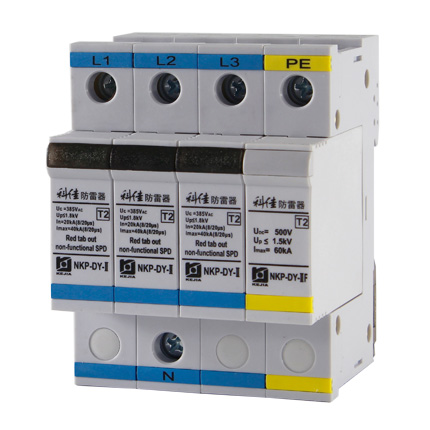AC SPD – 40kA per phase surge protection devices  NKP-DY-II-40-3P+1 z
