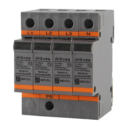pluggable ac surge protection devices 100ka per phase 8 20µs nkp ac spd 100ka per phase surge protection devices nkp dy i 100