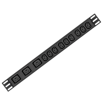 Basic PDU_3.84kW single-Phase Basic PDU, 250V (9 C13 & 3 C19), 220-230V Input, 6.6ft Cord, 1U Horizontal NKP-DY-U-32a(32-L33+H3+L2)