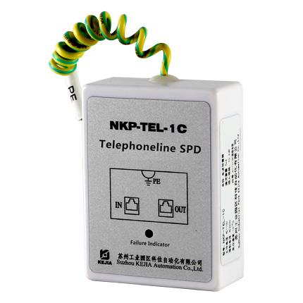 telephone line, RJ45 ADSL surge suppressor NKP-TEL-1C 1