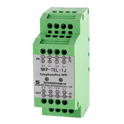 telephone line, terminals ADSL surge suppressor NKP-TEL-1J 2